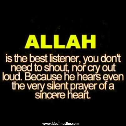 Allah is the best listener facebook