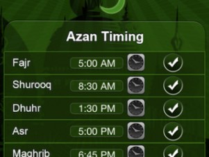 prayers timings